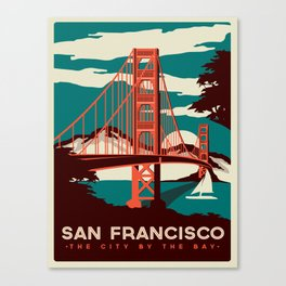 Vintage poster - San Francisco Canvas Print