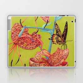Tiger Lilies with Butterfly Laptop & iPad Skin