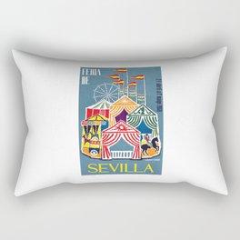 Spain 1960 Seville April Fair Travel Poster Rectangular Pillow