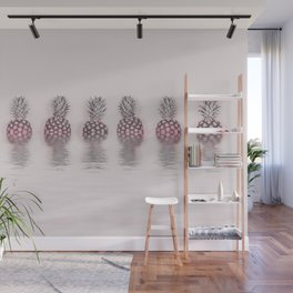 Pink Pineapple In The Water Wall Mural