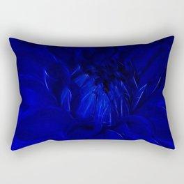 Royal Blue Fractal dahlia Rectangular Pillow