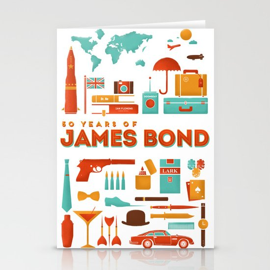James Bond 50 Years  Stationery Cards