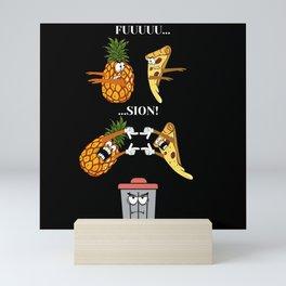 Ananas Pizza, Fusion Transformation Mini Art Print