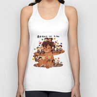 snk Tank Tops featuring SNK-Mini Titan by Mimiblargh