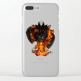Black Dragon Clear iPhone Case