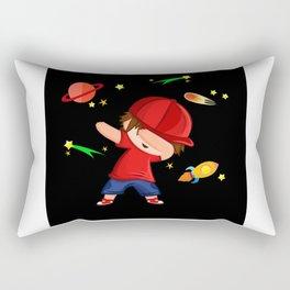 Dabbing Boy With Red Cap Firework Design Motif Rectangular Pillow