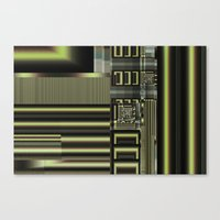 industrial Canvas Prints featuring Industrial by inkedsandra