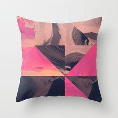 Triangular Magma Throw Pillow