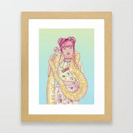 Candid Candy Lady Framed Art Print