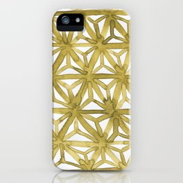 Gold Asanoha iPhone Case