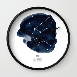 Zodiac Star Constellation - Aquarius Wall Clock