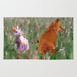 The hare and the fox Rug