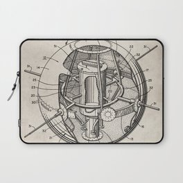 Space Satellite Patent - Outer Space Art - Antique Laptop Sleeve
