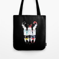 twins Tote Bags featuring  Twins by ELKEFOLTZ