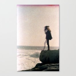Girl on a Cliff Canvas Print