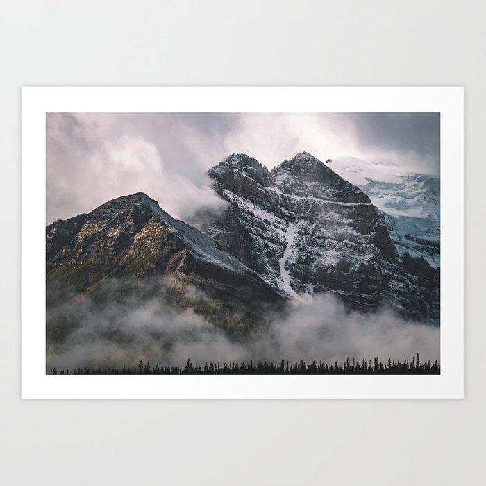 Foggy Mornings at Lake Louise Art Print