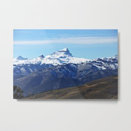 Uncompahgre Peak First Snow Metal Print