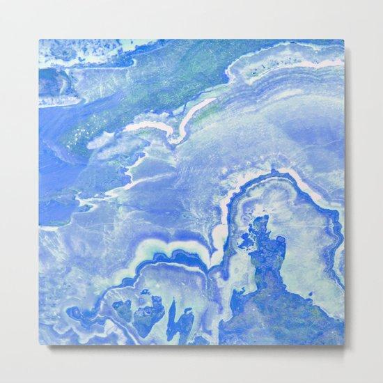 Blue onyx Metal Print