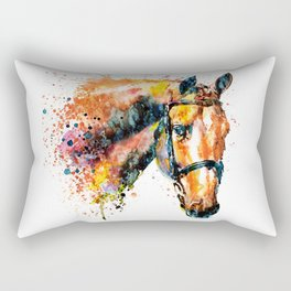 Colorful Horse Head Rectangular Pillow