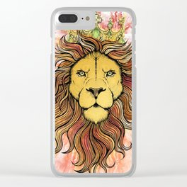 King The Lion Clear iPhone Case