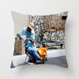 Dining Out - No Reservation Throw Pillow