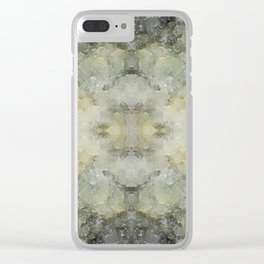 Abstract marble pattern Clear iPhone Case