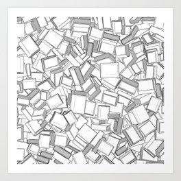 The Book Pile II Art Print