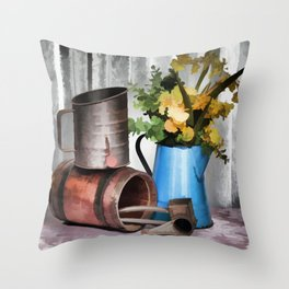 Looking To The Past Throw Pillow