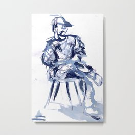 cross you're legs and wait. with Jun Metal Print