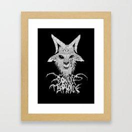 Bouncephomet Black Framed Art Print