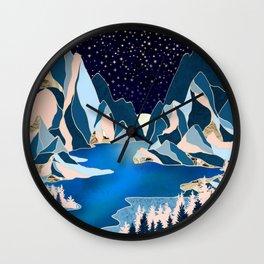 Star Peaks Wall Clock