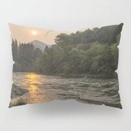 Fire Sunrise on McKenzie River Pillow Sham