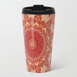 Mandala Flower red Travel Mug