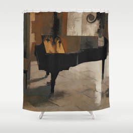 Grand Piano Artwork Shower Curtain
