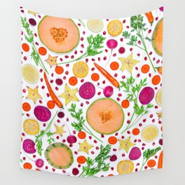 Fruits and vegetables pattern (19) Wall Tapestry
