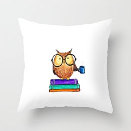 Oliver the Owl Throw Pillow