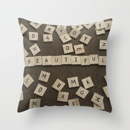 beautiful chaos Throw Pillow