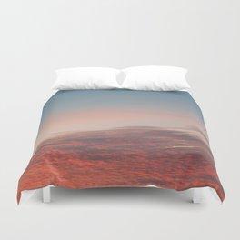 Dappled Peach Skies Duvet Cover