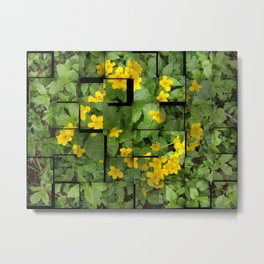 Forest Flowers Eco-friendly Camouflage Metal Print