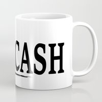 johnny cash Mugs featuring CASH by shannon's art space