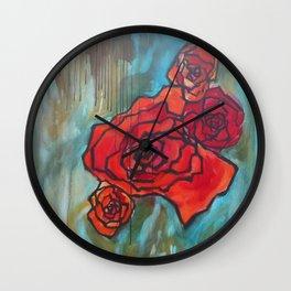 Roses61 Wall Clock