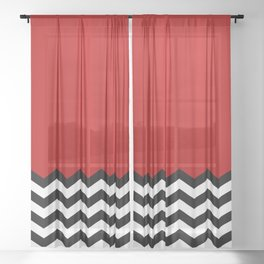Twin Peaks - The Red Room Sheer Curtain