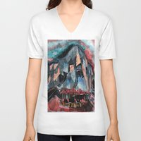 melbourne V-neck T-shirts featuring Melbourne by sladja