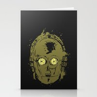 c3po Stationery Cards featuring C3PO by Peyeyo