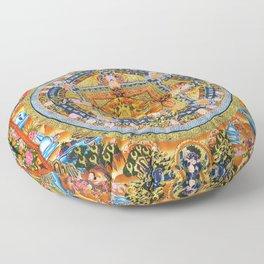Mandala Buddhist 2 Floor Pillow