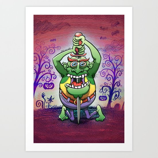 The Awkwardness of the Sword Swallower Art Print