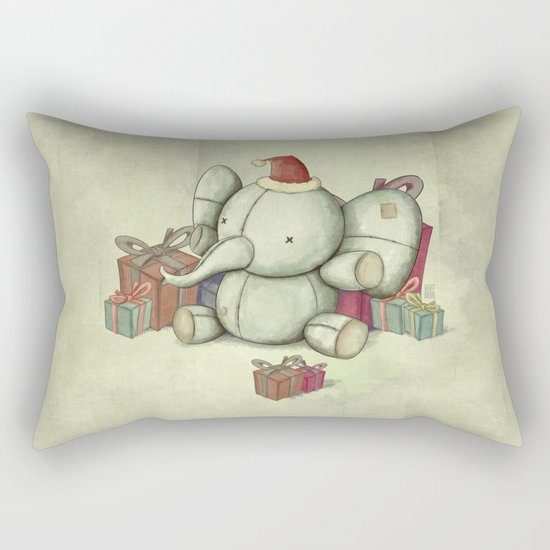 Happy Cute Elephant Rectangular Pillow