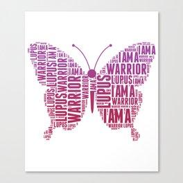 Lupus awareness butterfly Shirt Canvas Print