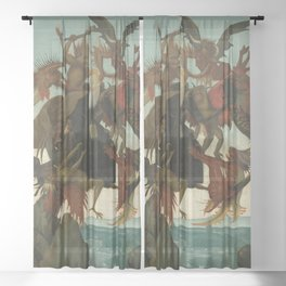 Michelangelo - The Torment of Saint Anthony Sheer Curtain