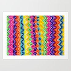 CRAYON LOVE: Cray Tribal Art Print